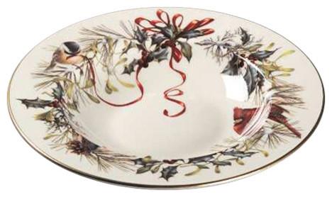 Lenox winter greetings rim soup bowl traditional holiday lenox winter greetings rim soup bowl m4hsunfo
