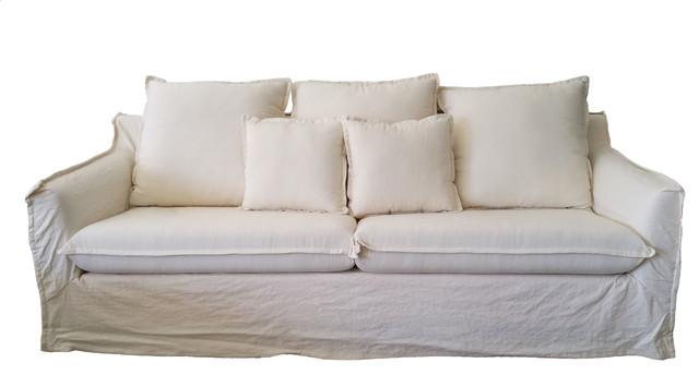 White linen sofa 16 best sofas images on pinterest for White linen sectional sofa