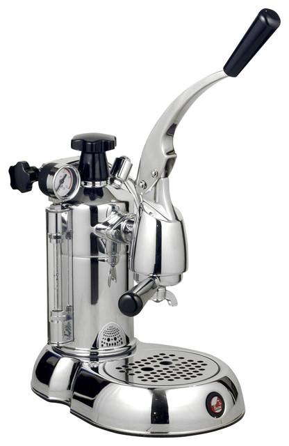 La Pavoni Stradavari Espresso Maker, Black Handles.