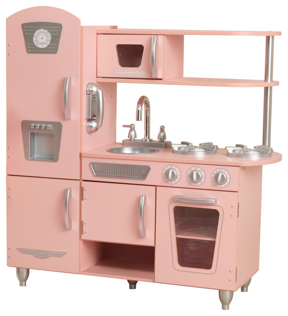 Kidkraft Vintage Play Kitchen Pink Contemporary Kids Toys And Games By Houzz
