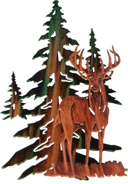 Lazart Production Inc 3d Whitetail Deer Rustic Metal