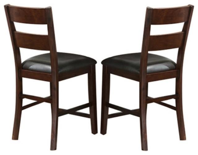 Viola Heights Diamond Back Pub Chair Set 2 Modern