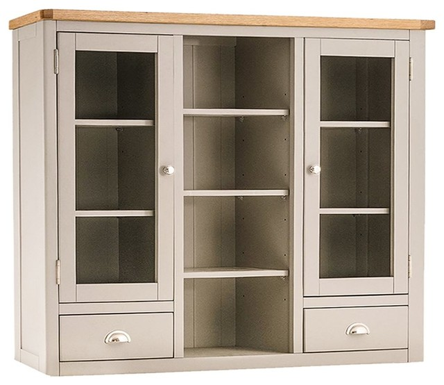 Portland Painted Oak Large Dresser Top Country Display Cabinets Dressers By The Furniture Outlet