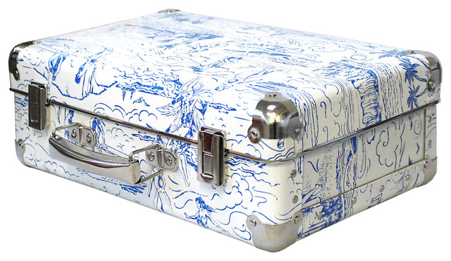White and Blue Catch a Wave Decorative Box, Small