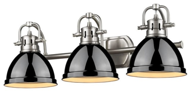 3 Light Brushed Nickel Bath With, Modern Bathroom Light Fixtures Brushed Nickel