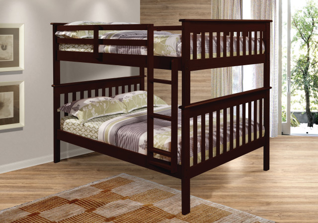 Full/full Mission Bunk Bed, 123-3cp.