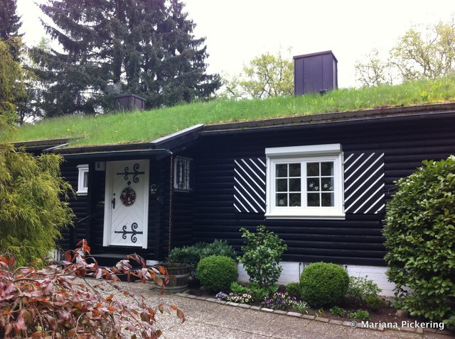 Wohldorf-Ohlstedt green roof near Hamburg, Germany farmhouse-exterior