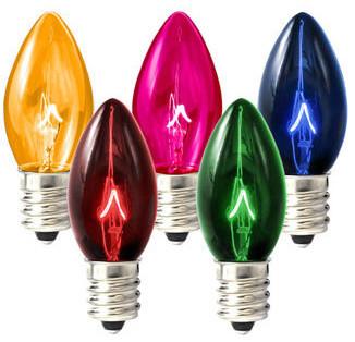 Incandescent C7 & C9 Christmas Light Bulbs