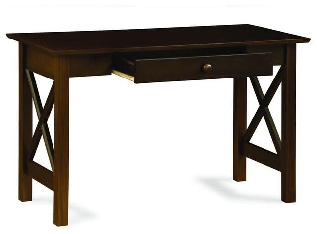 Beau Atlantic Furniture Lexington Writing Desk In Antique Walnut