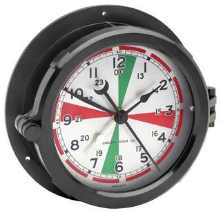 Patriot Deck Radio Room Clock - Beach Style - Wall Clocks - by Chelsea ...