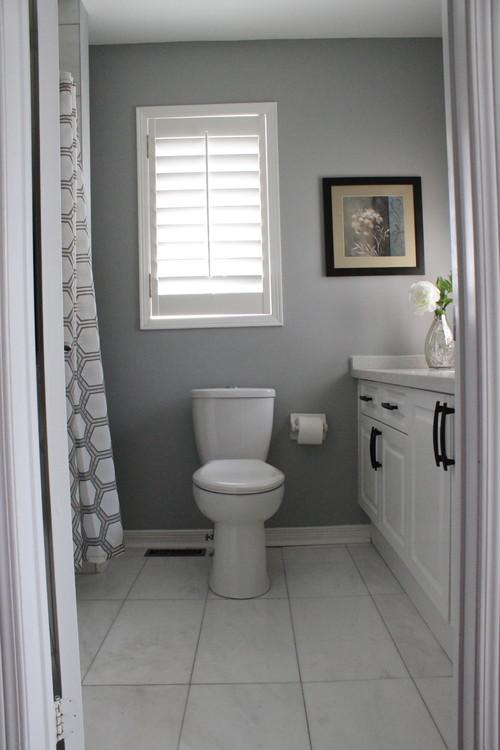 Bathroom renovation for Stonington gray exterior paint