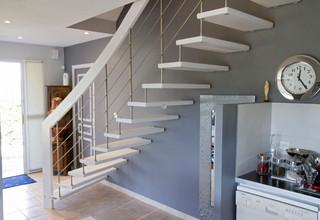 escalier nova contemporain angers par escaliers hibert partenaire treppenmeister. Black Bedroom Furniture Sets. Home Design Ideas