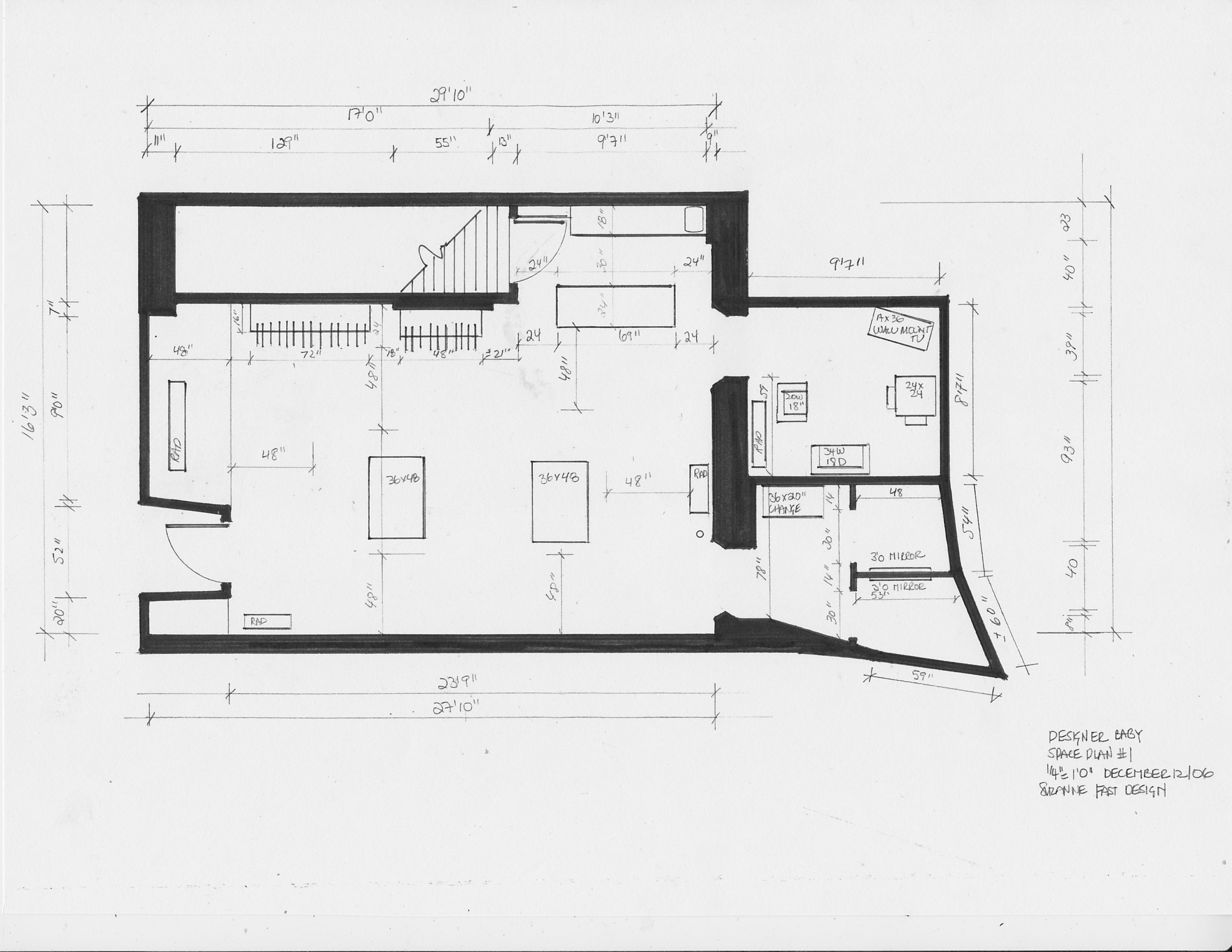 commercial space plan- retail store