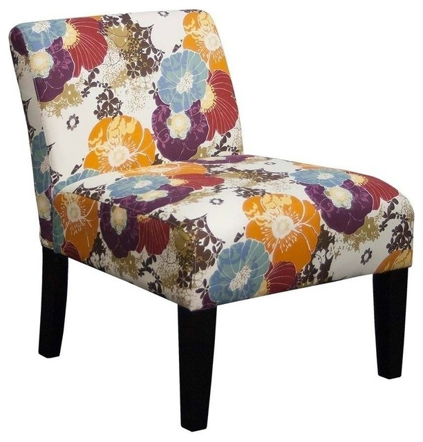 Grafton Home Armless Living Room Accent Chair Floral Graffiti Armchairs And Accent Chairs