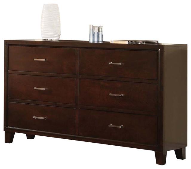 Acme Tyler 6-Drawer Dresser, Espresso.