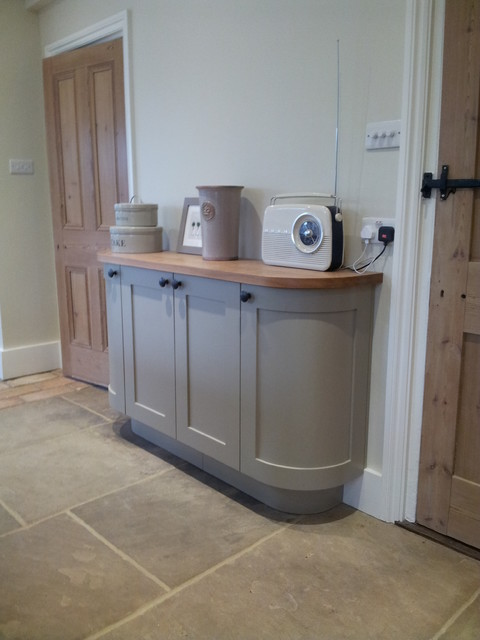 Curved Sideboard In Farrow Amp Ball Light Grey No 17