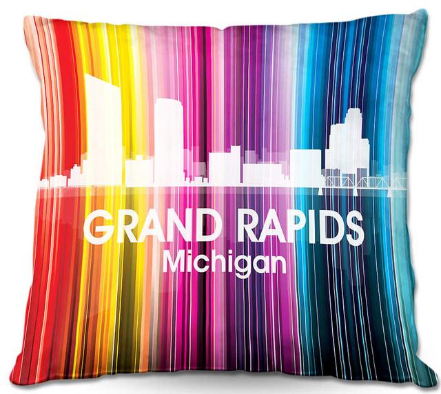 City II Grand Rapids Michigan Outdoor Pillow
