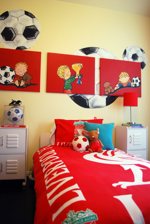 Sports Themed Bedroom Accessories Playful Decor Sports Themed Kids Bedrooms