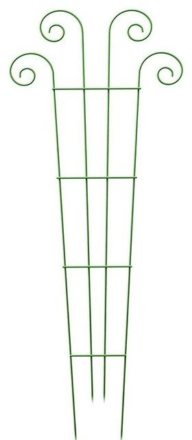 Panacea 89636 Steel Wave Style Pot Trellis, Green, 16x48.