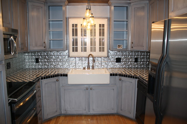 Bon Tin Backsplash   Kitchen BacksplashesContemporary Kitchen, Tampa