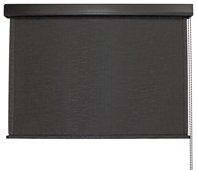 "Sauda Valanced Outdoor Shade, Black, 72""x96""."