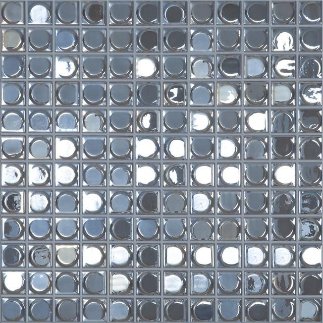 12.5x12.5 Silver Iridescent Glass Tile by Vidrepur