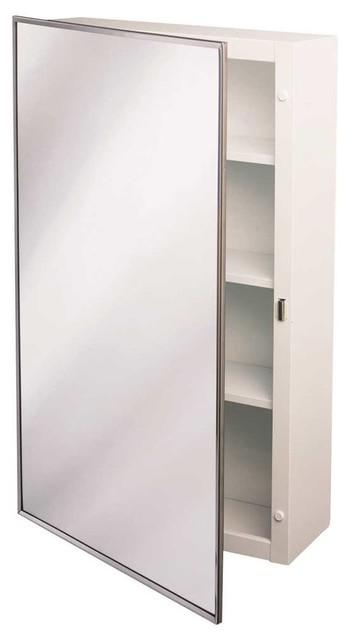 "Surface Mount Steel Medicine Cabinet 16""x22"" Chrome."
