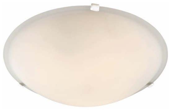 Signature 3-Light Flush Mounts, White.