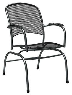 Monaco Steel Spring Mesh Chair Contemporary Outdoor