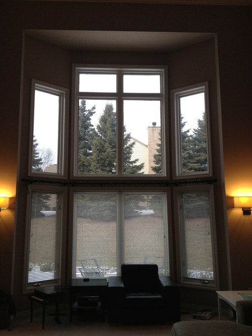 Window treatment for 2 story bay window for 2 story window treatments