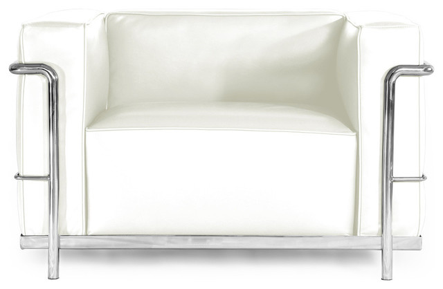 Stupendous Roche Chair Cream White Aniline Leather Caraccident5 Cool Chair Designs And Ideas Caraccident5Info