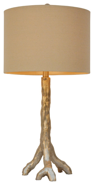 Silver Tree Branch Table Lamp.