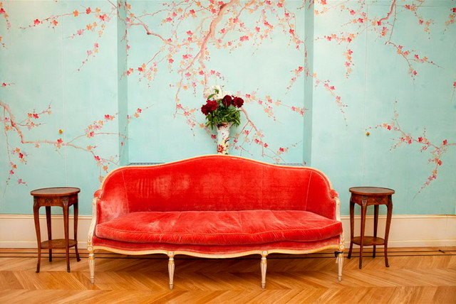 JapaneseKorean Style Hand Painted Silk Wallpaper Asian