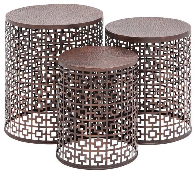 Modern Metal Outdoor Side Table - Outdoor Designs