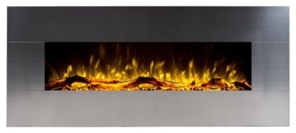 """Touchstone 80026 Onyx Stainless Wall Mounted Electric Fireplace, 50"""""""