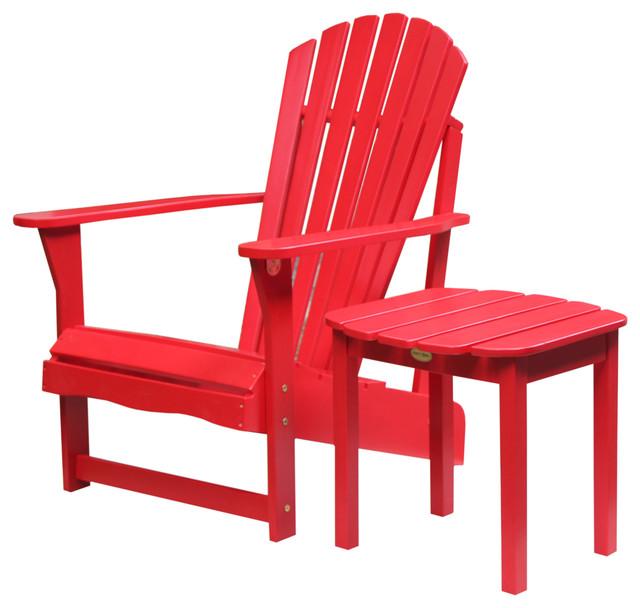 Adirondack Coffee Table Set: Sienna 2-Piece Adirondack Chair