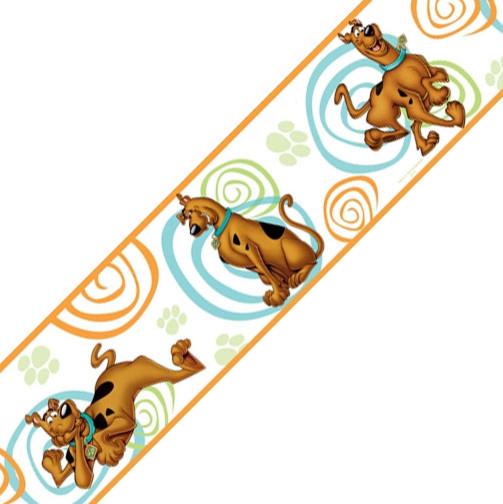 Scooby Doo Swirls Set of 4 Self Stick Wall Borders contemporary wallpaper. Store51 LLC Scooby Doo Swirls Set of 4 Self Stick Wall Borders