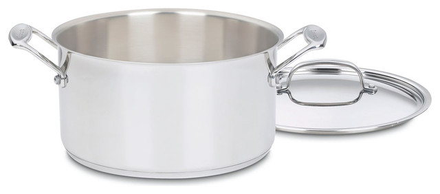Chef&x27;s Classic Stainless 6-Quart Stockpot With Cover.