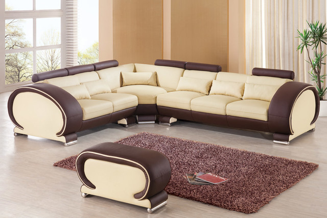Extravagant 1/2 Italian Leather L-shape Furniture