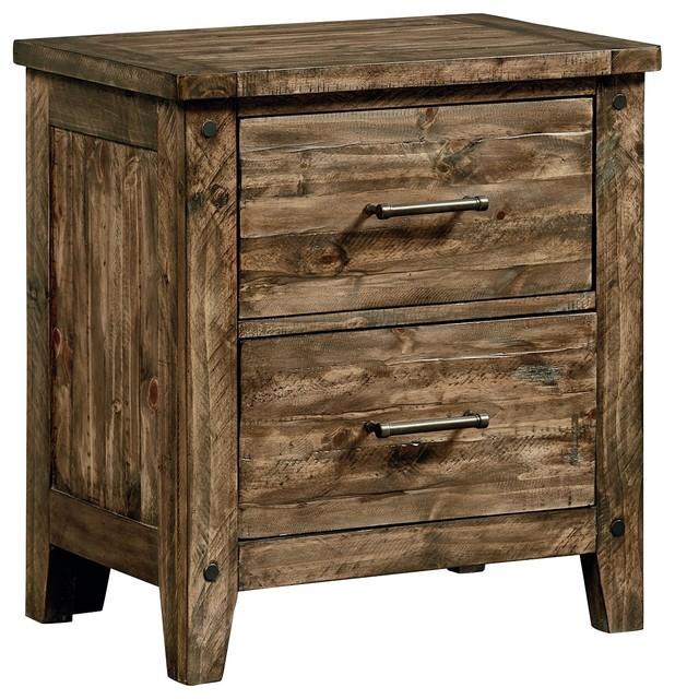 Standard Furniture Nelson Nightstand Rustic Pine 92507