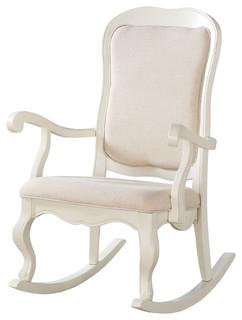 ... Furniture Sharan Rocking Chair, Antique-Style white - Rocking Chairs