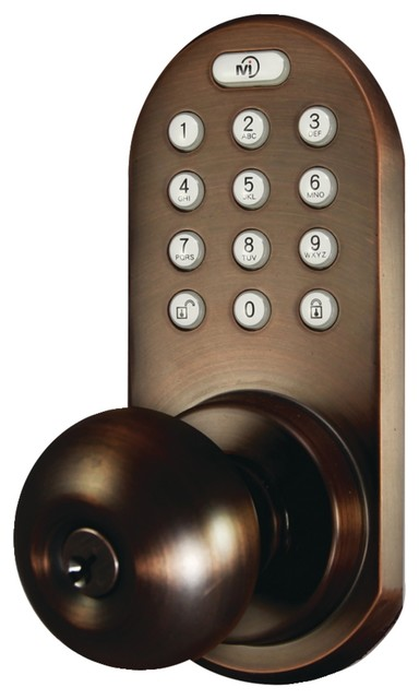 3-In-1 Remote Control & Touchpad Doorknob (oil Rubbed Bronze) - Pet.