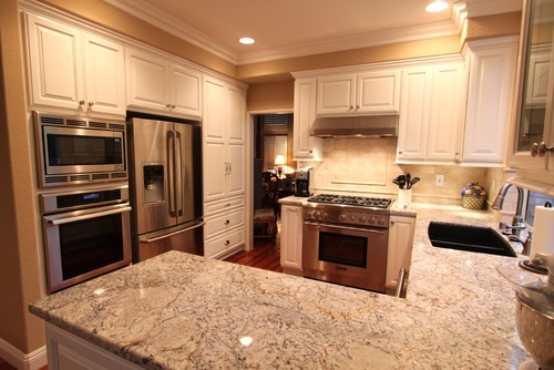 Medium image of our clients wanted granite countertops because of the beautiful flow of the natural stone  they chose a traditional style cabinet and also upgraded their