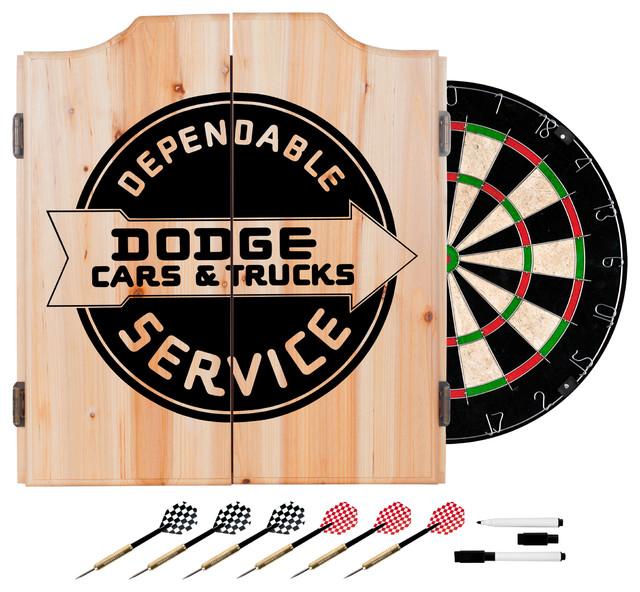 Trademark Gameroom Dodge Dart Cabinet Set With Darts and Board, Dodge Service - Darts And ...