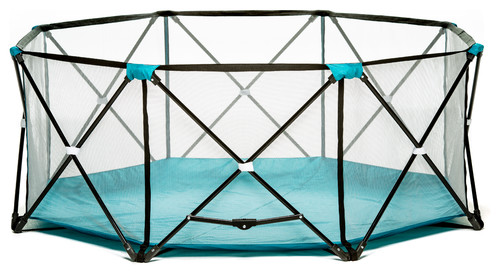 Regalo My Play, 8 Panel Portable Play Yard Teal