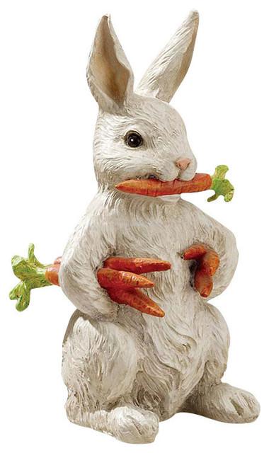 carotene the bunny rabbit garden statue - farmhouse - garden statues and yard art