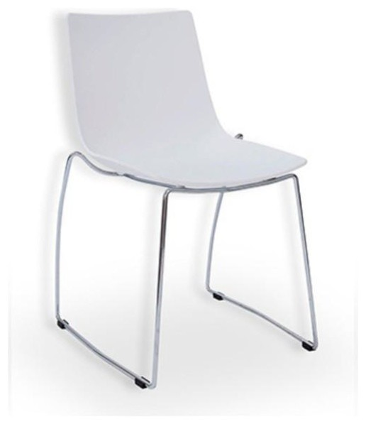 Zen better living mantis black modern plastic side chair for Contemporary plastic dining chairs