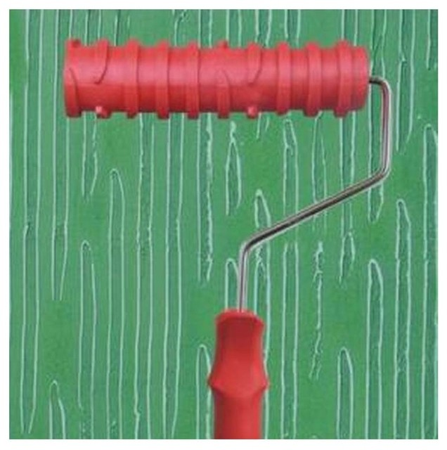 Embossed Paint Roller Wall Painting Runner Wall Decor Diy Tool, Pattern 6.