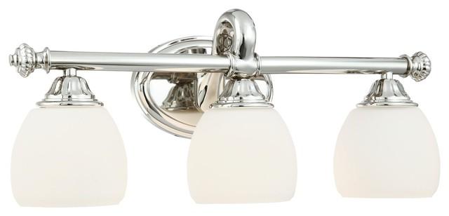 Bathroom Sconces Polished Nickel metropolitan n2823-613 polished nickel solid brass 3 light