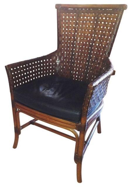 Palecek Rawhide Weave Arm Chairs   A Pair contemporary dining chairsPalecek Rawhide Weave Arm Chairs   A Pair   Contemporary   Dining  . Palecek Dining Chairs. Home Design Ideas